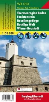 Freytag & Berndt Wander-, Rad- und Freizeitkarte Rosaliengebirge, Hohe Wand, Forchtenstein, Thermenregion, Wiener Neustadt