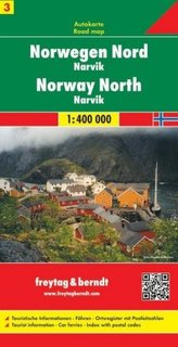 Freytag & Berndt Autokarte Norwegen Nord - Narvik 1 : 400 000. Norway North