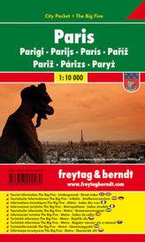 Freytag & Berndt Stadtplan Paris; Parigi. Parijs; Pariz. Parizs; Paryz