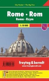 Freytag & Berndt Stadtplan Rom, City Pocket, Stadtplan 1:10.000. Rome. Roma; Rzym