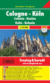 Freytag & Berndt Stadtplan Köln; Cologne. Colonia; Keulen. Kolin; Kolonia