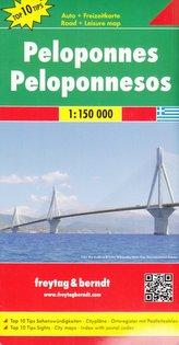 Freytag & Berndt Autokarte Peloponnes. Peloponnesos. Péloponnèse. Peloponneso