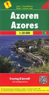 Freytag & Berndt Autokarte Azoren. Acores. Azores. Azzorre