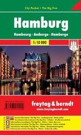 Freytag & Berndt Stadtplan Hamburg City Pocket, Stadtplan 1:10.000. Hambourg. Amburgo; Hamburgo; Hamburk