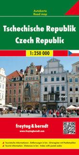 Freytag & Berndt Autokarte Tschechische Republik 1 : 250.000. Ceska republika. Tsjechische Republiek. Czech Republic. République