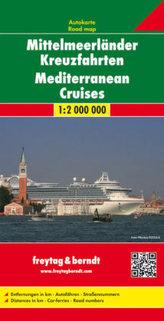 Freytag & Berndt Autokarte Mittelmeerländerländer Kreuzfahrten. Mediterranean Cruises. Croisiéres en Méditerranee. Crociere nel