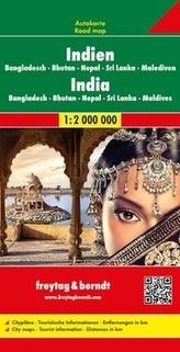 Freytag & Berndt Autokarte Indien, Bangladesch, Bhutan, Nepal, Sri Lanka, Malediven. India / Inde
