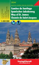 Freytag & Berndt Wander-, Rad- und Freizeitkarte Spanischer Jakobsweg. Camino de Santiago. Way of St. James. Chemin de Saint-Jac
