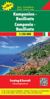 Freytag & Berndt Autokarte Kampanien, Basilicata. Campania, Basilicata