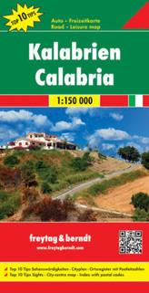 Freytag & Berndt Autokarte Kalabrien. Calabria