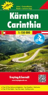 Freytag & Berndt Autokarte Kärnten. Carinthia