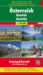 Freytag & Berndt Atlas Großer Autoatlas - Freizeitatlas - Radatlas Österreich. Freytag & Berndt Atlas Great road + leisure atlas