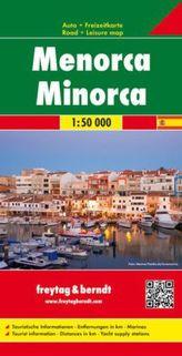 Freytag & Berndt Auto + Freizeitkarte Menorca. Freytag Berndt Road Map Minorca