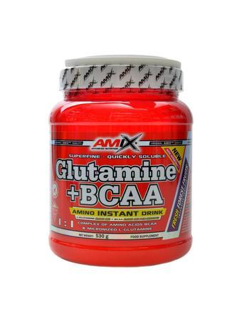 Glutamine + BCAA powder 530 g - lesní plody