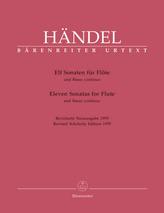 Elf Sonaten für Flöte und Basso continuo. Eleven Sonatas for Flute and Figured Bass, 2 Hefte