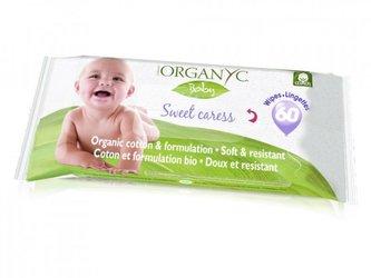 Organyc Dětské vlhčené hygienické ubrousky BIO (60 ks) - Organyc
