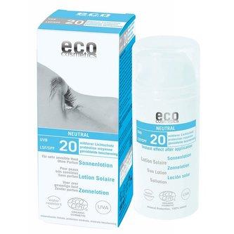 Eco Cosmetics Opalovací krém Neutral bez parfemace SPF 20 BIO (100ml) - Eco Cosmetics