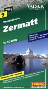 Hallwag Outdoor Map Zermatt