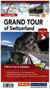 Grand Tour of Switzerland, Touring Map