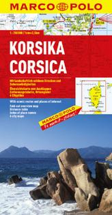 Marco Polo Karte Korsika. Corsica. Corse