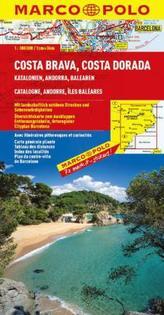 Costa Brava, Costa Dorada/mapa