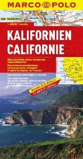 Marco Polo Karte Kalifornien. Californie. California