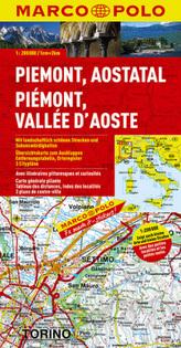 Marco Polo Karte Piemont, Aostatal. Piémont, Vallée d' Aoste / Piemonte, Valle d' Aosta / Piedmont, Aosta Valley