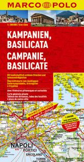 Marco Polo Karte Kampanien, Basilicata. Campanie, Basilicate. Campania, Basilicata