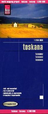 World Mapping Project Toskana. Tuscany. Toscane; Toscana