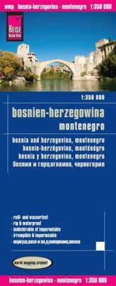 World Mapping Project Reise Know-How Landkarte Bosnien-Herzegowina, Montenegro (1:350.000). Bosnia and Herzegovina, Montenegro /