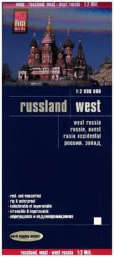 World Mapping Project Reise Know-How Landkarte Russland West (1:2.000.000). West Russia / Russie, ouest / Rusia occidental