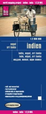 World Mapping Project Reise Know-How Landkarte Indien (1:2.900.000) mit Nepal und Sri Lanka. India, Nepal, Sri Lanka / Inde, Nép