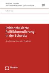 Evidenzbasierte Politikformulierung in der Schweiz