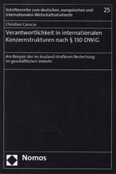 Verantwortlichkeit in internationalen Konzernstrukturen nach § 130 OWiG