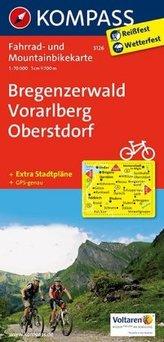 Kompass Fahrradkarte Bregenzerwald - Vorarlberg - Oberstdorf