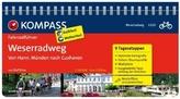 Kompass Fahrradführer Weserradweg, von Hann. Münden nach Cuxhaven