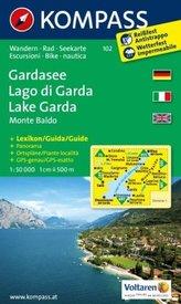 Kompass Karte Gardasee, Monte Baldo. Lago di Garda, Monte Baldo. Lake Garda, Monte Baldo