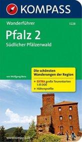 Kompass Wanderführer Pfalz. Tl.2