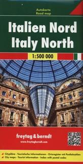 Freytag & Berndt Autokarte Italien Nord. Italy North / Italia Nord / Itálie du Nord / Italia del Norte