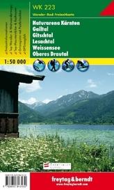 Freytag & Berndt Wander-, Rad- und Freizeitkarte Naturarena Kärnten, Gailtal, Gitschtal, Lesachtal, Weissensee, Oberes Drautal