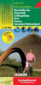 Freytag & Berndt Wander-, Rad- und Freizeitkarte Neusiedler See, Eisenstadt, Leithagebirge, Rust, Sopron, Seewinkel Nationalpark
