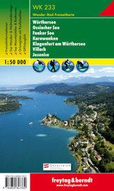 Freytag & Berndt Wander-, Rad- und Freizeitkarte Wörthersee, Ossiacher See, Faaker See, Karawanken, Klagenfurth am Wörthersee, V