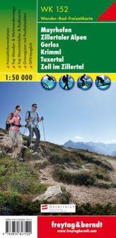Freytag & Berndt Wander-, Rad- und Freizeitkarte Mayrhofen, Zillertaler Alpen, Gerlos, Krimml, Tuxertal, Zell im Zillertal