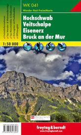 Freytag & Berndt Wander-, Rad- und Freizeitkarte Hochschwab, Veitschalpe, Eisenerz, Bruck an der Mur