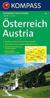 Kompass Karte Österreich. Austria. Autriche