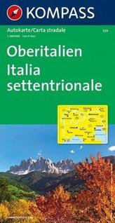 Kompass Karte Oberitalien. Italia settentrionale. Northern Italy; Italie du Nord