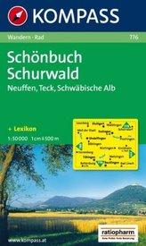 Kompass Karte Schönbuch, Schurwald