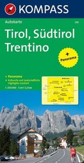 Kompass Karte Tirol, Südtirol, Trentino. Tirol, Alto Adige, Trentino