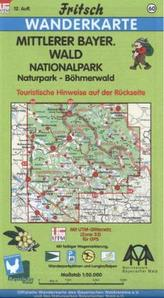 Fritsch Karte - Mittlerer Bayerischer Wald, Nationalpark