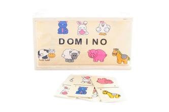 Dřevěné domino zvířátka